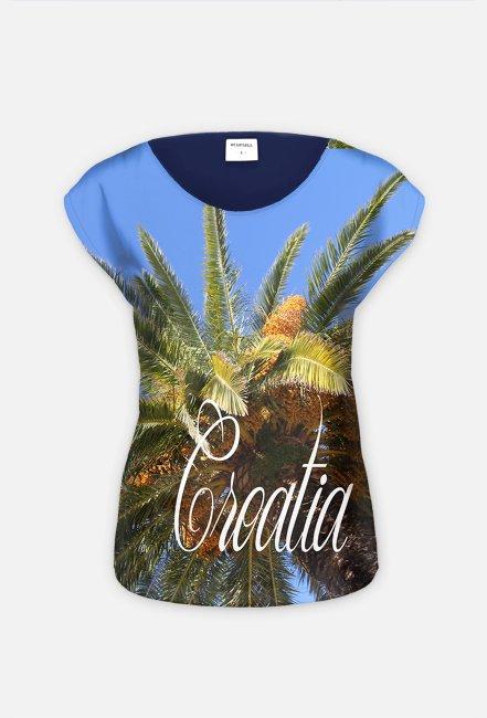 Koszulka Croatia FullPrint hybryda damska