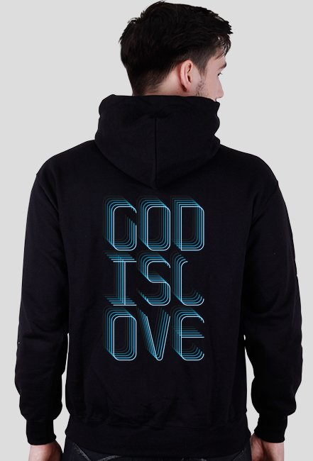 God Is Love - bluza męska z kapturem