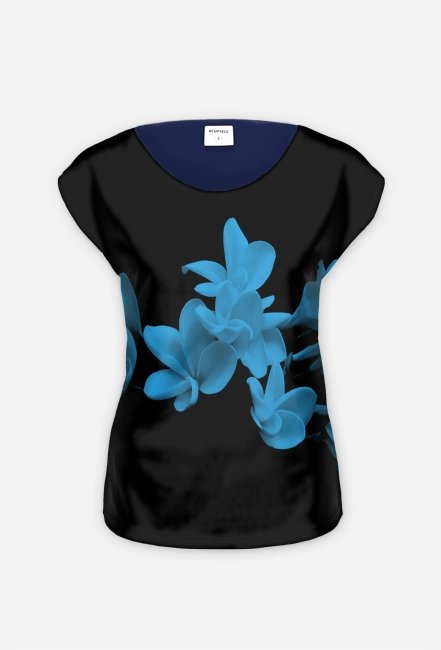 kwiaty niebieski-bluzka