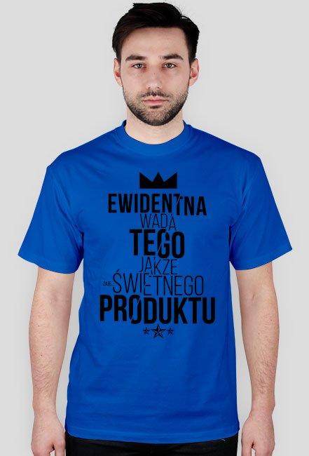 Koszulka EWIDENTNA WADA (czarny nadruk)