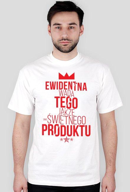 Koszulka EWIDENTNA WADA (czerwony nadruk)