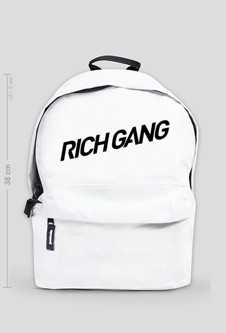 RICH GANG - WHITE BACKPACK
