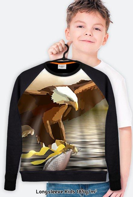 Bluza FullPrint dziecięca 185g/m2 Orzeł i ryba