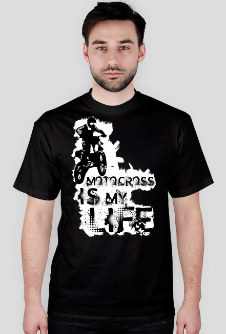 Motocross is my life - męska koszulka motocyklowa