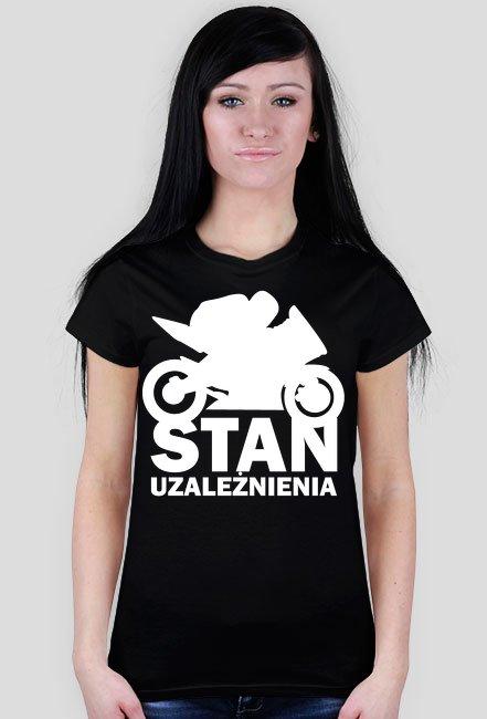 Stan uzależnienia gold - damska koszulka motocyklowa