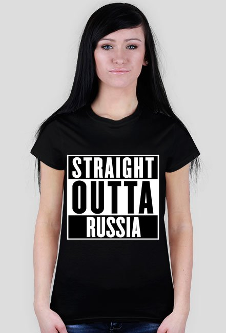 Straight outta Russia dámské tričko