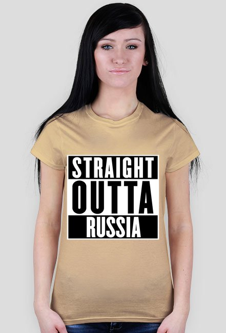 Straight outta Russia Koszulka Damska