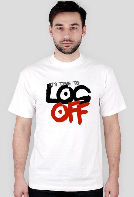 Koszulka - It's time to log off  - koszulki informatyczne, koszulki dla programisty i informatyka - dziwneumniedziala.cupsell.pl