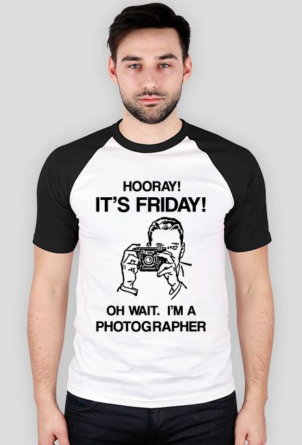 IT'S FRIDAY! OH WAIT. - koszulka dla fotografa w Camwear