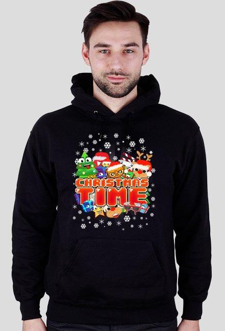 Christmas Time - Zimowa Bluza z kapturem