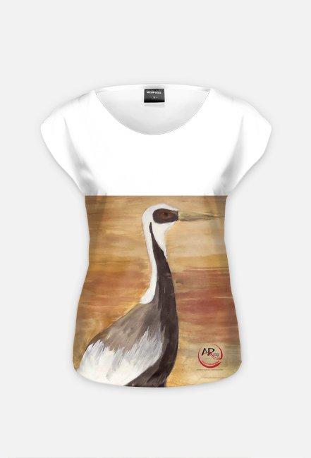 ptaki w przestrzeni - kobieca bluzka