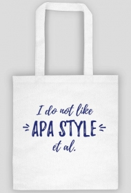 I do not like APA style et al. - torba