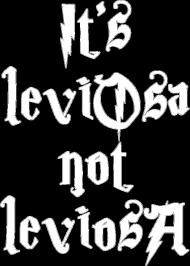 It's leviOsa not leviosA koszulka damska