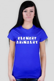 Element animalny 2 koszulka damska