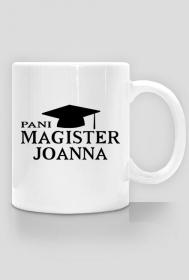 Kubek Pani Magister z imieniem Joanna 2-stronny