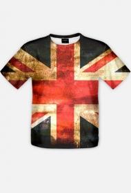 Koszulka z flagą Wielkiej Brytanii fullprint 2-stronna