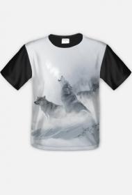 Koszulka z wilkami fullprint