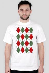 Koszulka świąteczna - sweter w romby