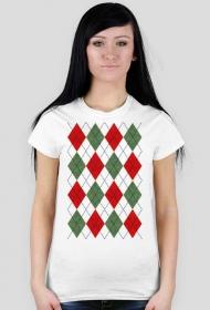 Koszulka bożonarodzeniowa - sweter w romby argyle