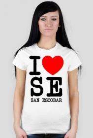 I love San Escobar - koszulka damska