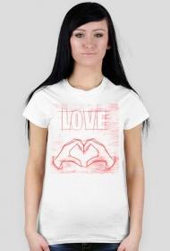 Koszulka LOVE serce