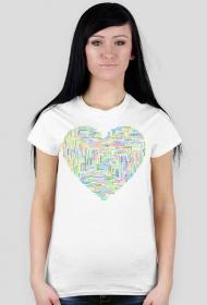 Koszulka ze słowem miłość w różnych językach