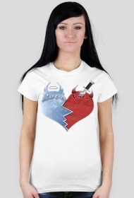 Koszulka z sercem Love hate