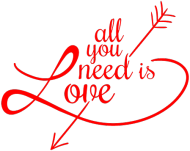 Kubek All you need is love