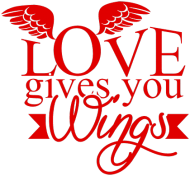 Walentynki kubek Love gives you wings