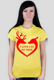 Koszulka I love you my deer