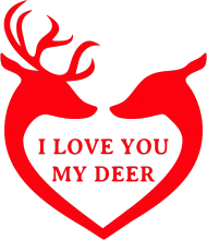 I love you my deer koszulka