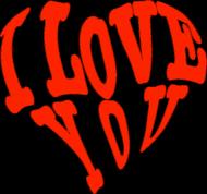 I love you - kubek serce