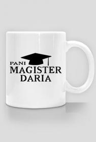 Kubek Pani magister z imieniem Daria 2-stronny