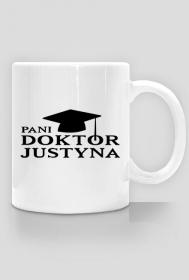 Kubek Pani doktor z imieniem Justyna