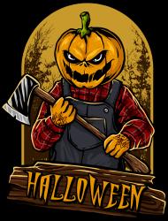 Halloween dyniogłowy koszulka