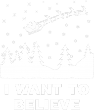 I want to believe koszulka świąteczna Mikołaj