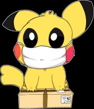 Koszulka Pikachu w maseczce