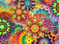 Maseczka z nadrukiem wielorazowa psychedelic