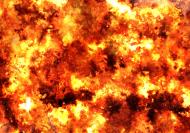 Maseczka wielorazowa ogień