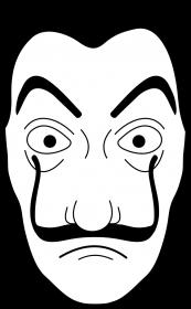 Dom z papieru koszulka damska maska 2