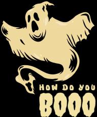 How do you boo koszulka z duchem halloween