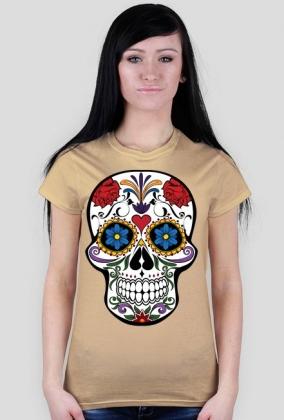 Czaszka folk koszulka damska