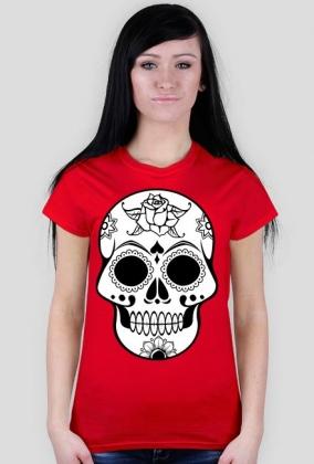 Sugar skull czaszka folk koszulka damska