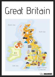 Mapa Wielkiej Brytani