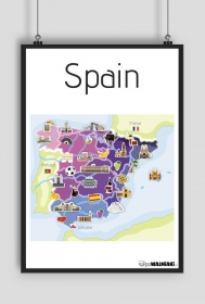 Mapa Hiszpani