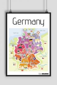 Mapa Niemiec