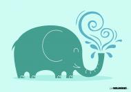 Przyjazny słonik