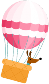 Piesek w balonie