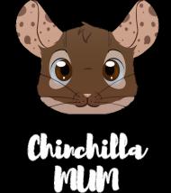 Chinchilla Mum koszulka czarna