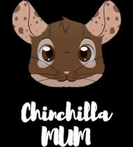 Chinchilla Mum koszulka czarna 2